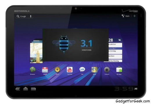 Motorla Xoom with Android 3.1