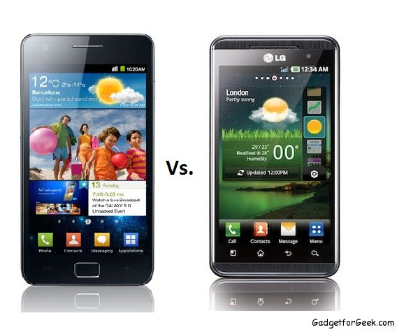 Samsung Galaxy SII Vs. LG Optimus 3D