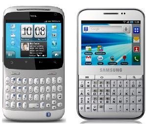 HTC ChaCha Vs Samsung Galaxy Pro
