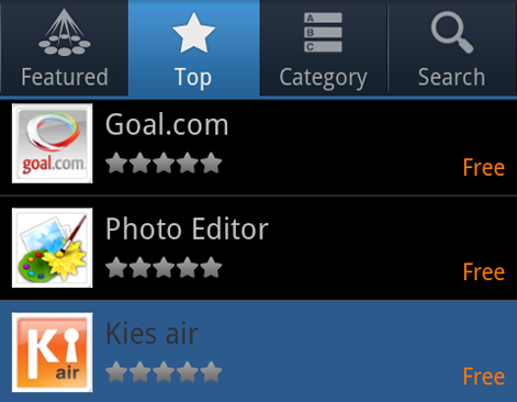 Samsung Premium Apps