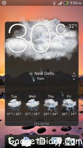 htc one x widget