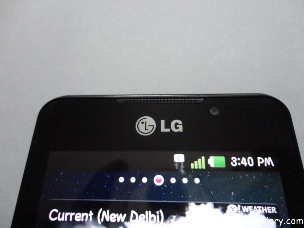 LG Optimus 3D top