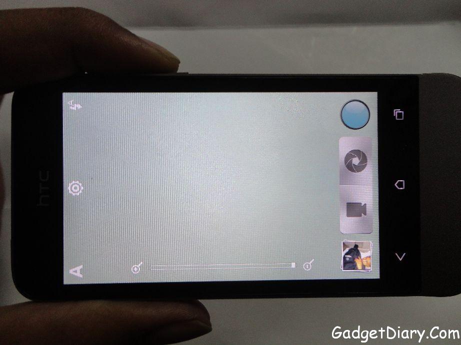 HTC One V Camera interface