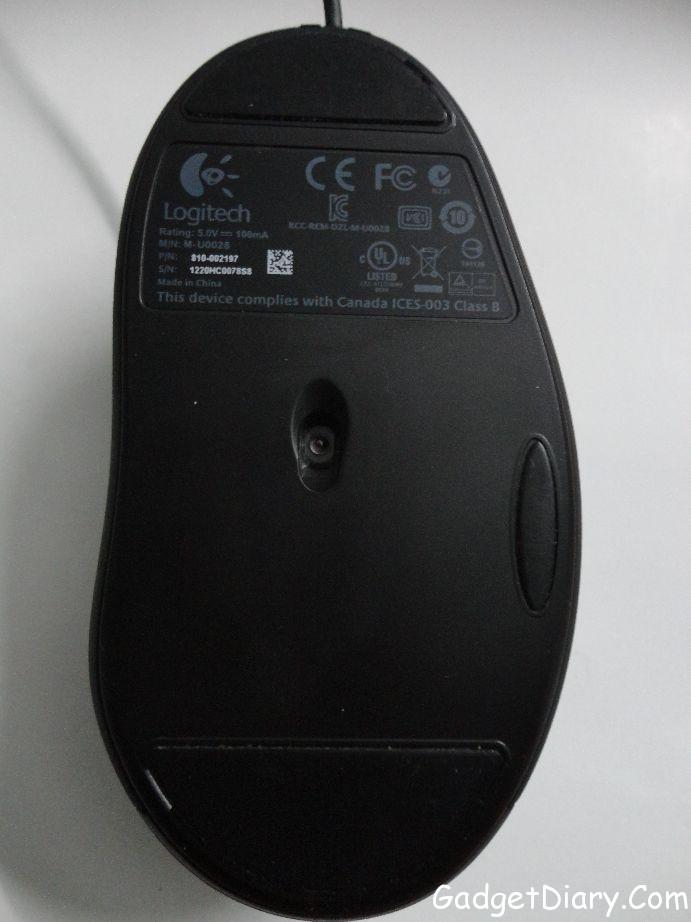 logitech g400 bottom
