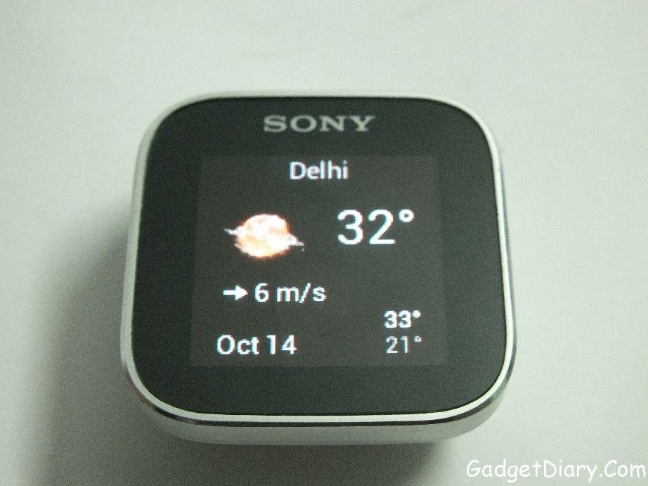 sony smartwatch weather