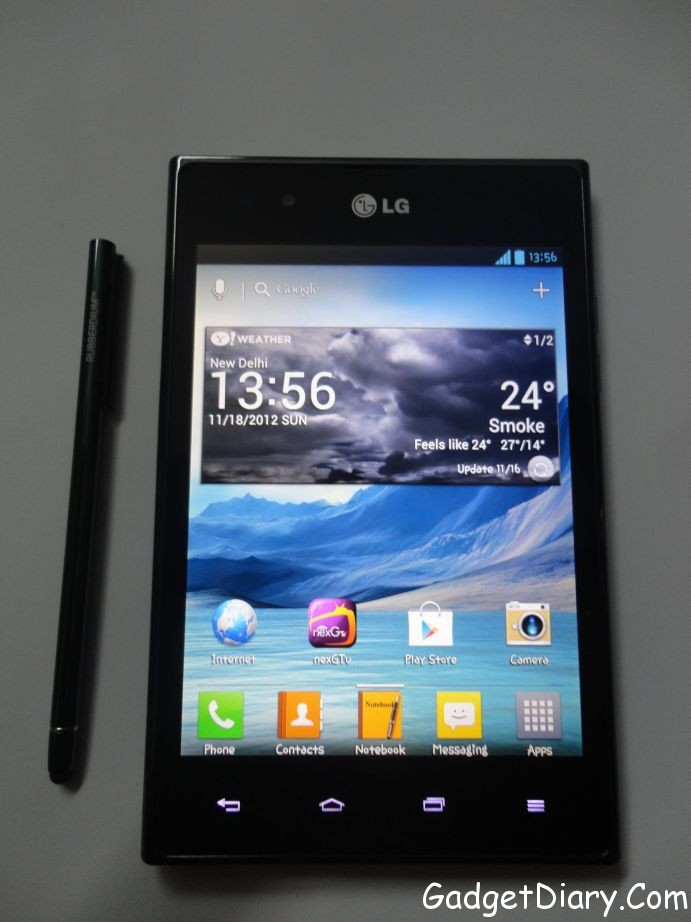 LG Optimus Vu with Stylus
